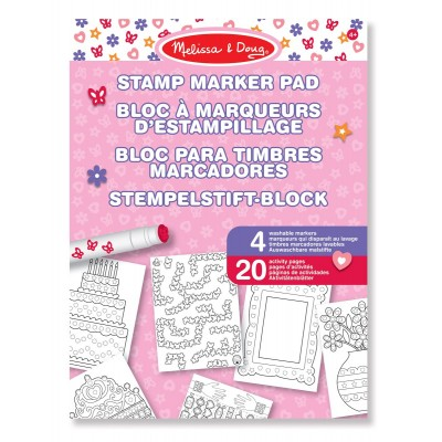 Block rosado para decorar con sellos