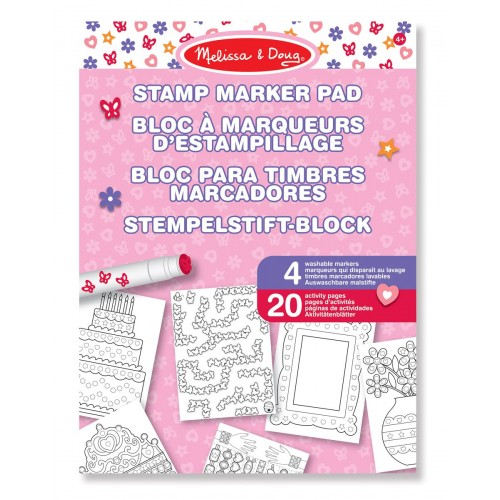 Block rosado para decorar con sellos disponible en: www.happyeureka.com