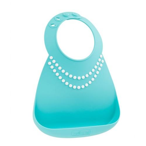Baby bib tiffany blue w/pearls disponible en: www.happyeureka.com