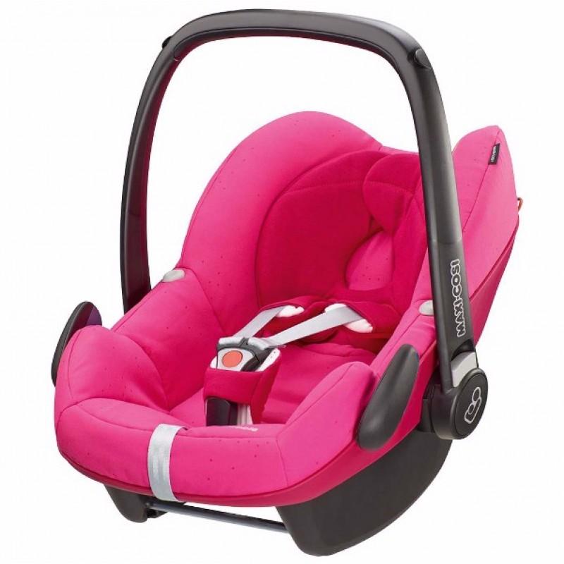Silla de carro para beb pebble rosa fresa for Espejos para ver a los bebes en el coche