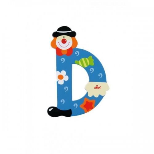 Letra decorativa - D disponible en: www.happyeureka.com