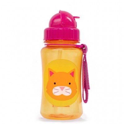 Zoo straw bottle cat
