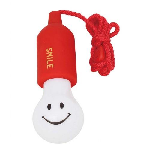 Linterna sonrisas con cuerda roja disponible en: www.happyeureka.com