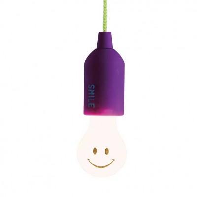 Linterna sonrisas con cuerda morada