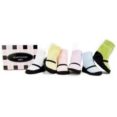 Maryjane pastel (0-12m) - medias para niñas - medias para bebés
