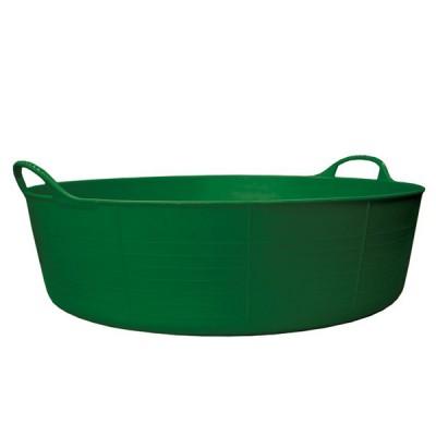 Contenedor grande y poco profundo verde