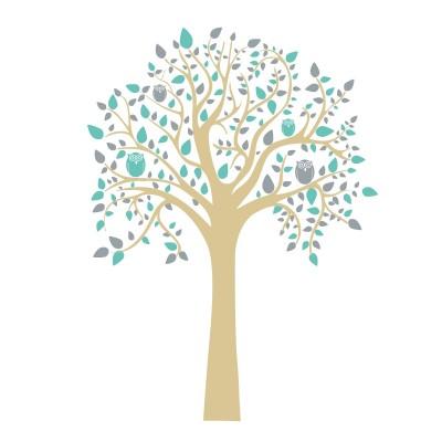 Vinilo decorativo - El árbol del búho