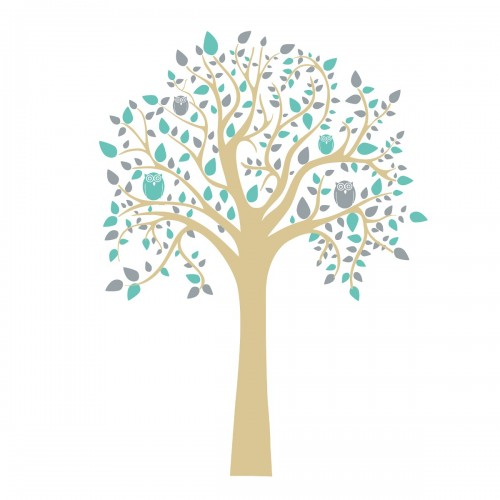 Owl tree - vinilo decorativo disponible en: www.happyeureka.com