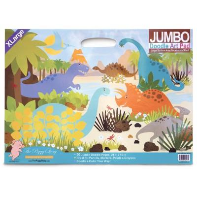 Jumbo doodle pad dinosaur world - block de dibujo para niños