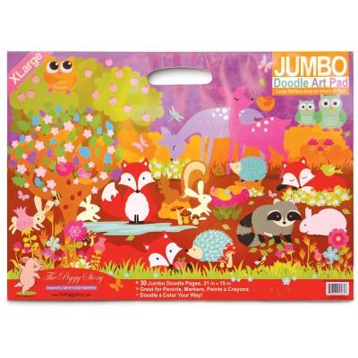 Jumbo doodle pad fox & woodland animals