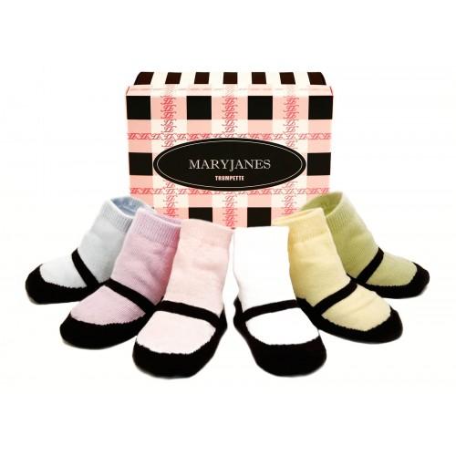 Medias para bebe - Maryjane pastel disponible en: www.happyeureka.com