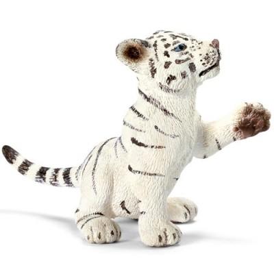 Tigre blanco bebe jugando